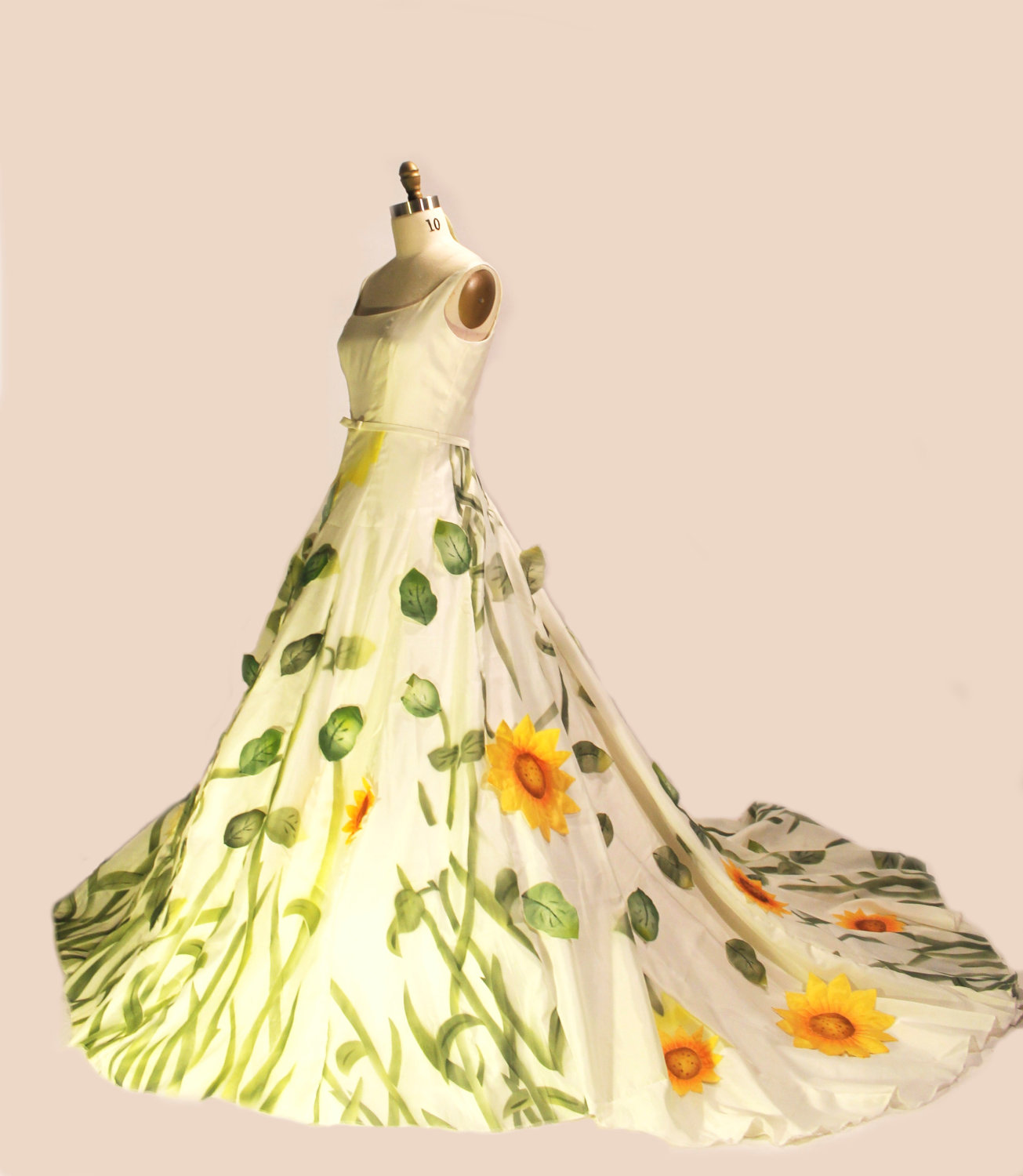 Unique Wedding Dresses Non White Bridal Gown Sunflowers Onewed Com