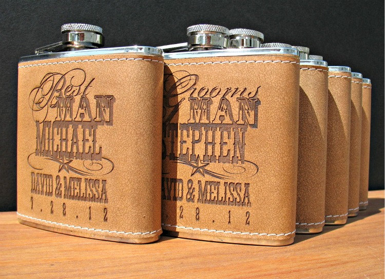 Rad Wedding Gifts For Groomsmen Best Man Engraved Flasks