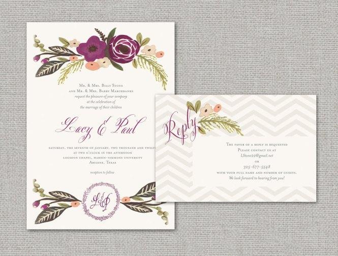 Elegant Wedding Invite Enclosure