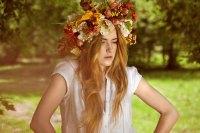 bohemian bridal crown wedding hair accessories | OneWed.com