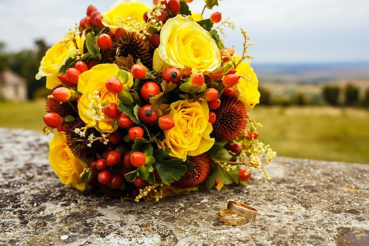 kwiaty na wesele jesień