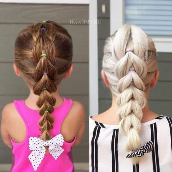 fryzura dziewczynka warkocz