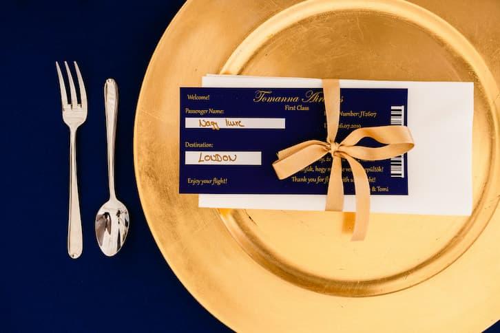 dekoracje wesele grant złoto