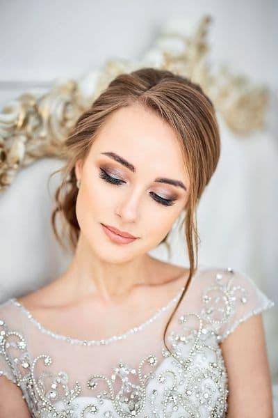 makijaż panna młoda oczy cienie