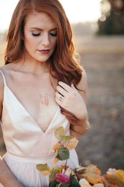 makijaż ślubny rude włosy typ jesień