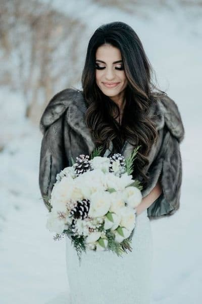 makijaż ślubny typ zima róż