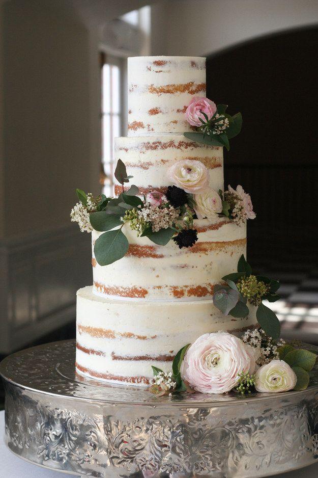 semi naked cake tort weselny