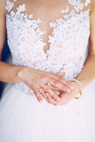 paznokcie na ślub french