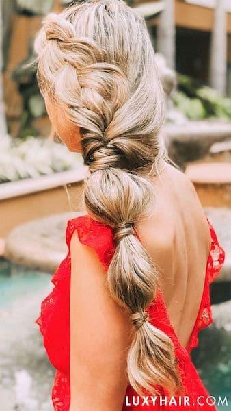 upięcie damskie bubble ponytail