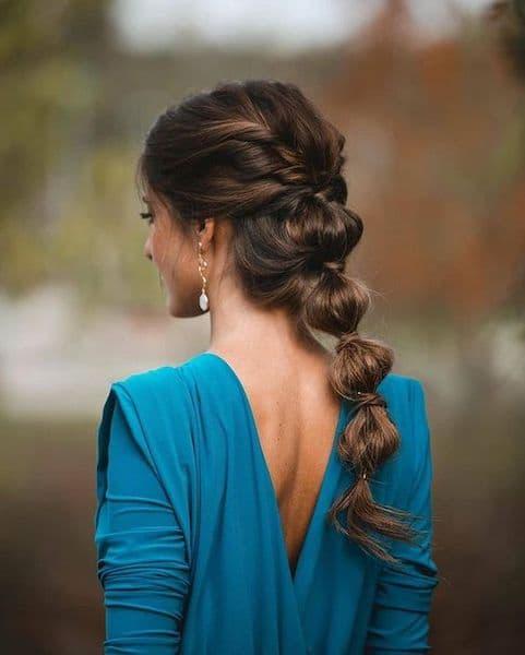 upięcia na wesele bubble ponytail