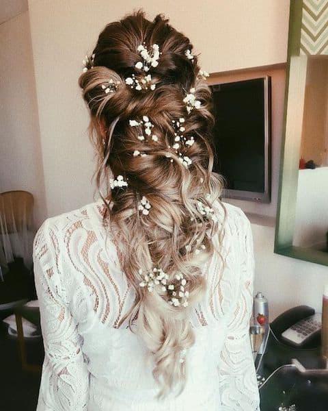 upięcia na wesele warkocz kaskadowy