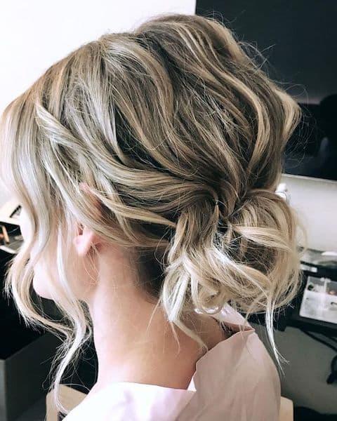 upięcie krótkie włosy fale loki