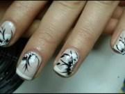 bridal nails wedding