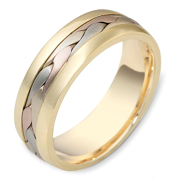 119911e Braided Handcrafted Wedding Band