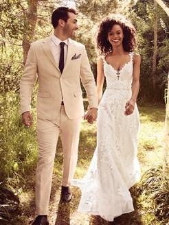 Courtney Wedding Dress Rebecca Ingram | tulle a-line lace wedding dress