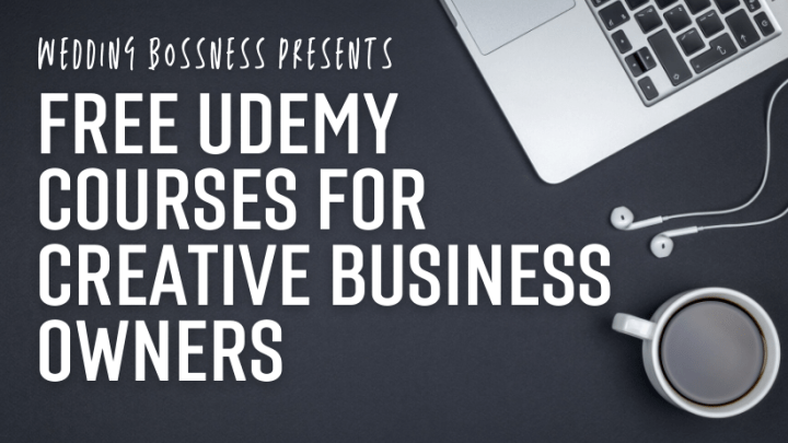 wedding business courses on udemy