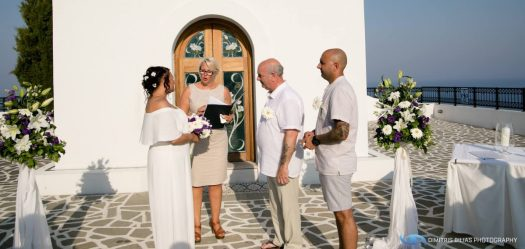 Vow renewal greece