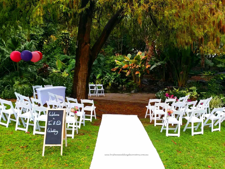 chair cover hire and setup swivel glider rocking brisbane city botanic gardens wedding