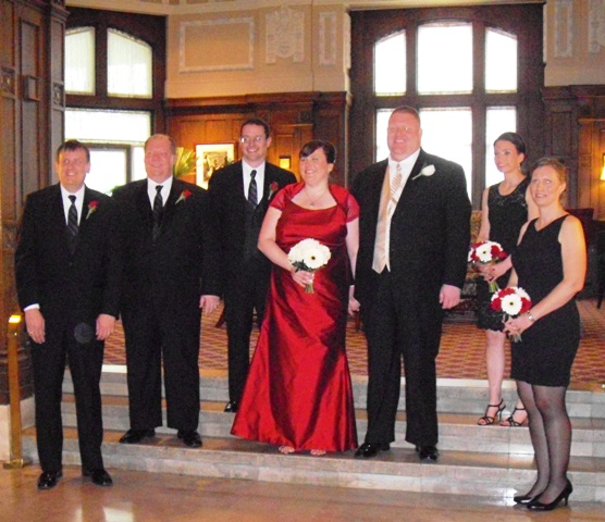 the bride in a