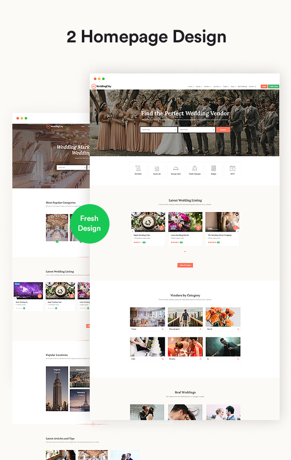 Wedding city Vendor - Directory & Listing WordPress Theme