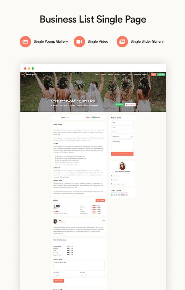 Wedding city - Directory & Listing WordPress Theme