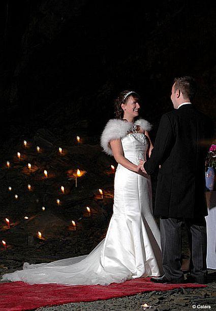 500 feet underground wedding 49