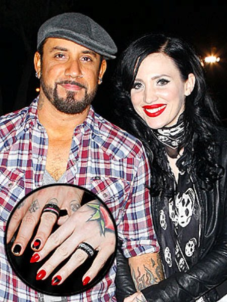 AJ and Rochelle's wedding rings