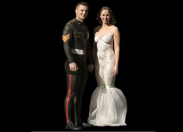 Body Painted Wedding Gown