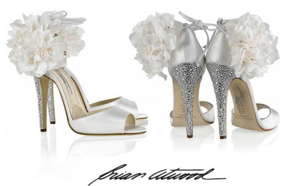 Brian Atwood Aurora Embellished Satin Sandals