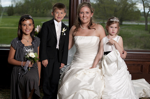 Bride, Flower girls and the Ring bearer