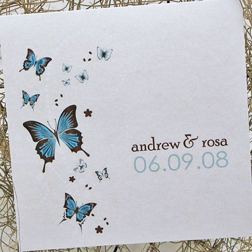 Cute and romantic butterfly wedding invitations Wedding Clan
