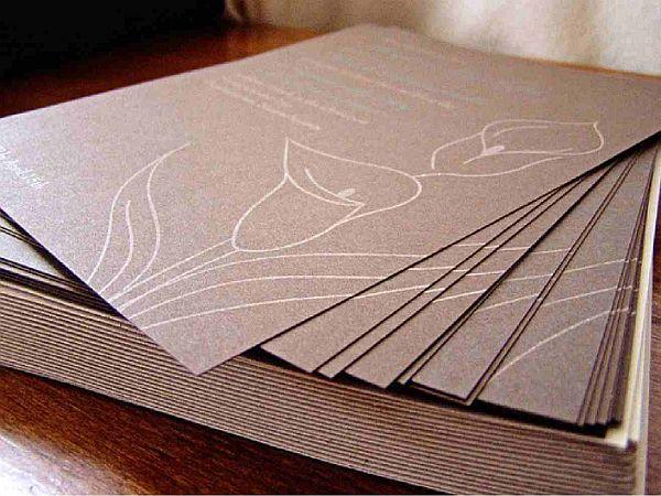 Elegant and Relaxed wedding invitation