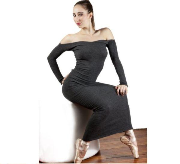 Elegant Ankle Length Sweater Dress