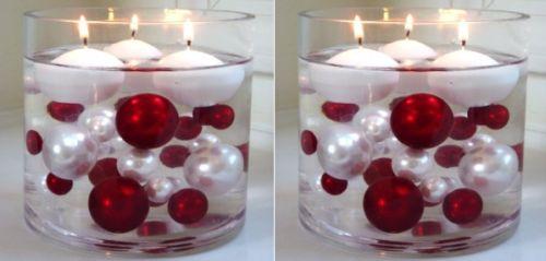 Elegant oversized pearl beads vase filler