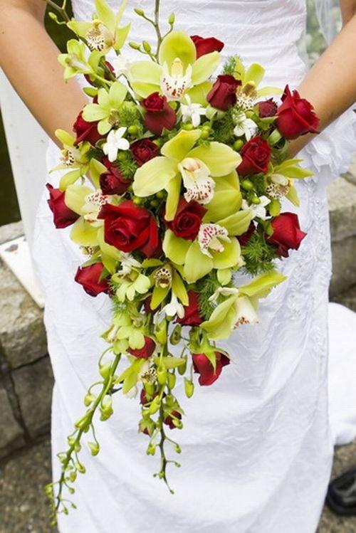 Green Cascading Bouquet