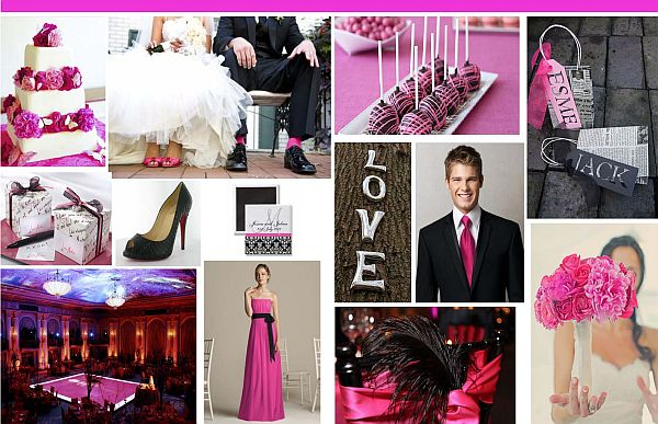 Hot pink bridal theme