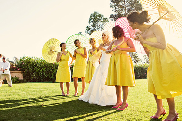 Hot summer weddings
