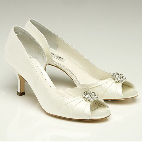 Walk The Aisle In A Comfortable And Stylish Manner With This Beautiful  Celine Low Heel Wedding Shoes. The Heels Measure 2 Inches In Height And The  Court ...