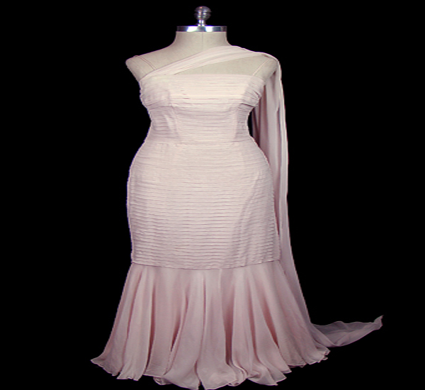 Knife pleated gown