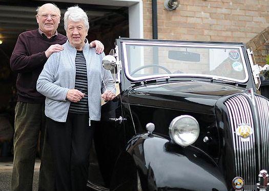 Lovebirds Philip and Doris Gostling