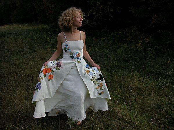 Lynn's silk wedding gowns