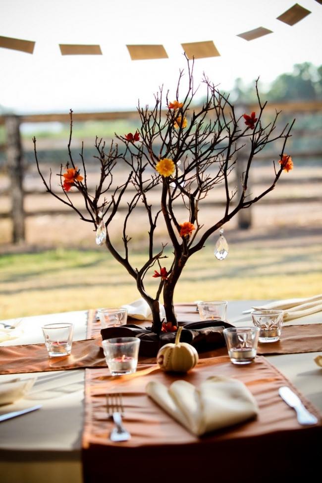 Natural wedding centerpiece ideas