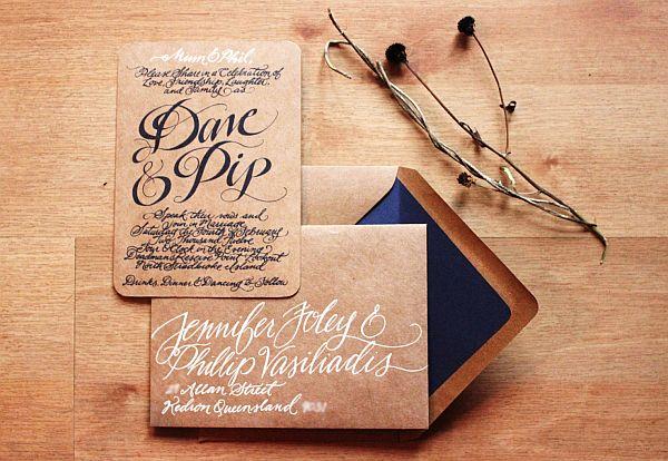 Nature themed wedding invitations