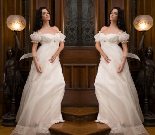 Off Shoulder Vintage Dream Maternity Wedding Dress