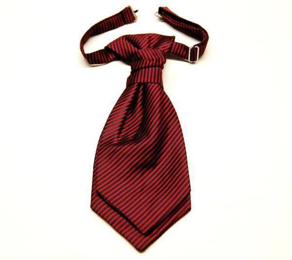 Paul Malone Red and Black Ascot Tie