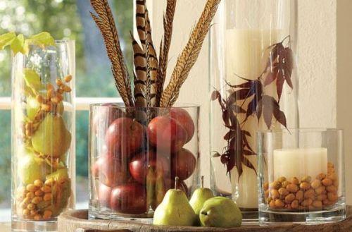Red apple vase filler