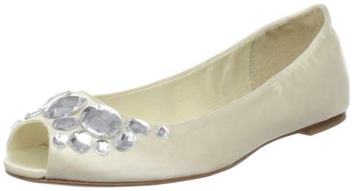 Rya Peep-Toe Embellished Flat