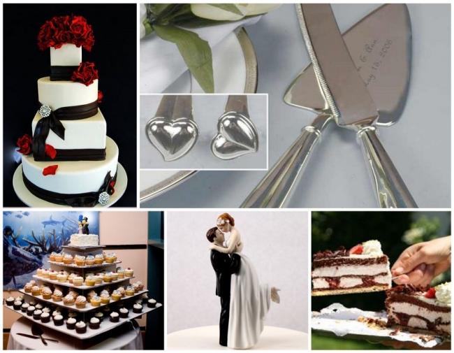 Serving the wedding cake