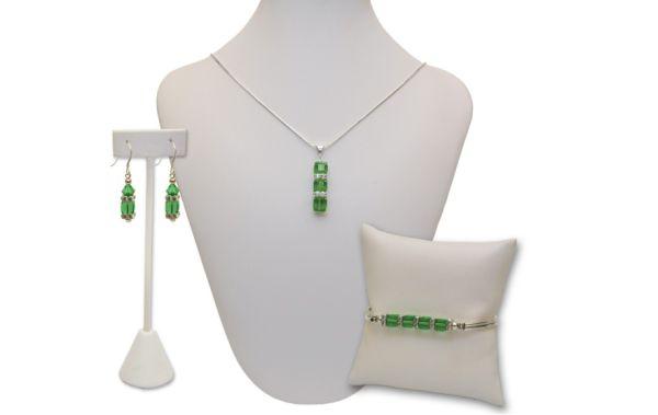 Stacey Swarovski Cube Wedding Jewelry Set