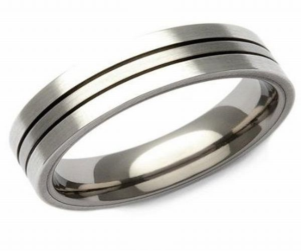 Wedding band for a groom